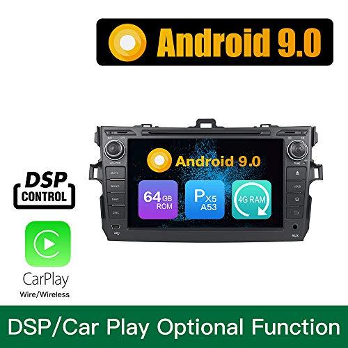 Android 9.0 Octa Core 4G Ram 64 GB Rom Autoradio GPS Navigation Lenkradsteuerung DVD-Multimedia-Spieler Headunit Stereo Link spiegeln WiFi Für Toyota Corolla 2006 2007 2008 2009 2010 2011 (2011 Stereo-toyota Corolla)