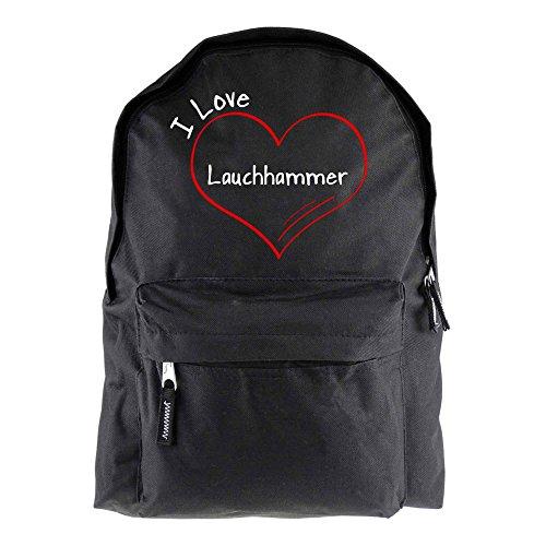 Rucksack Modern I Love Lauchhammer schwarz