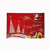 Christmas Decoration Mat, Cotton Linen Heat Insulation, Waterproof and Anti-fouling, 45x30cm 4-Piece Set
