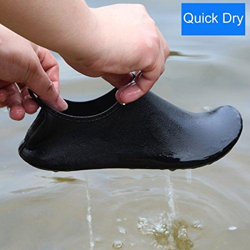 Bild von Qimaoo Unisex Strandschuhe Strand Schwimmschuhe Schnell Trocknend Schuhe Aquaschuhe Badeschuhe Wasserschuhe Surfschuhe