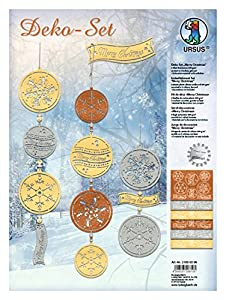 Ursus-Juego de Elementos Decorativos Merry Christmas gelasert