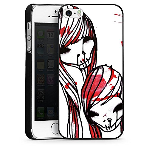 Apple iPhone 5 Housse Étui Silicone Coque Protection DeadHoxtonGirls Gloria saignant CasDur noir
