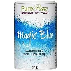 PureRaw Magic - Espirulina natural de microalgas azules, 50 g, ficocianina es un colorante natural, sin sabor