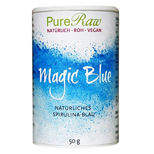 Magic Blue (natürliches Spirulina-Blau), 50g (Roh) (1) (Blue Magic)