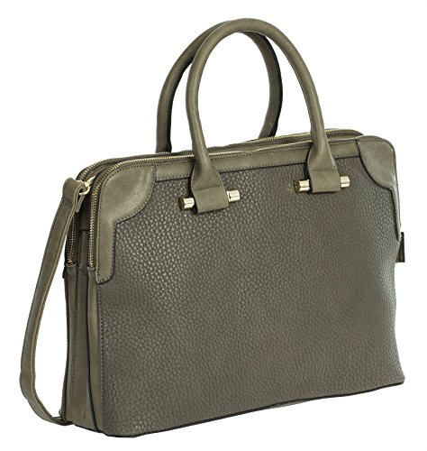 Big Handbag Shop ,  Damen Tasche Deep Taupe