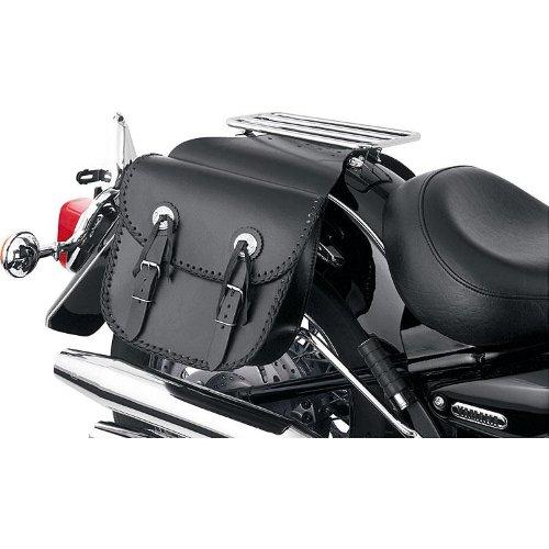 Spirit Motorrad schwarz   Gepäcktasche Motorrad, Chopper-Satteltasche 2er-Set, 10 Liter je Tasche