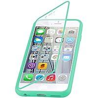 iPhone 6 / 6s Plus Silikonhülle | JAMMYLIZARD 360 Grad Schutzhülle Silikon Case Backcover Hülle und Displayschutz Flip Cover Komplett-Handyhülle, Grün