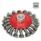 Zopfbürste Topfbürste Ø 100 mm Metall gezopft M14 Drahtbürste