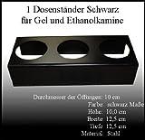 Metallständer Schwarz für 0,5 Liter Ethanol-Dosen - Gelkamin / Ethanolkamin