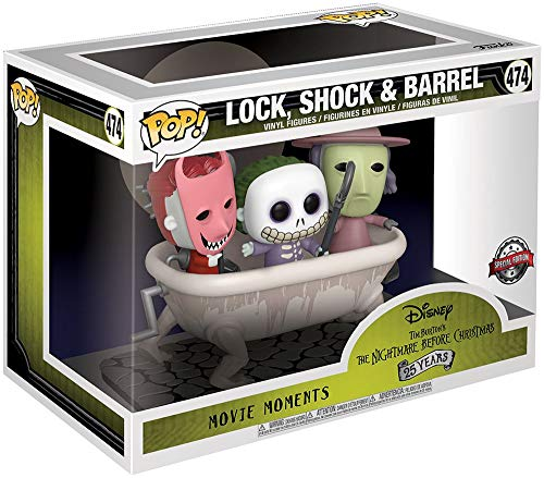 Nightmare before Christmas The Lock, Shock & Barrel (Movie Moments) Vinyl Figure 474 Funko Movie Moments Standard