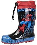 Bottes en caoutchouc pour garçon - Motif Spiderman - Bottes de pluie ou de neige -...
