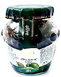 Schwarze Oliven in Öl eingelegt