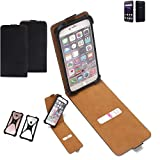 K-S-Trade Flipstyle Hülle für ZTE Blade V8 64 GB Handyhülle Schutzhülle Tasche Handytasche Case Schutz Hülle + integrierter Bumper Kameraschutz, schwarz (1x)