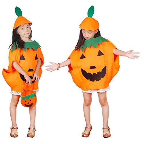 Imagen de bello luna halloween niños calabaza disfraces fantasía cosplay partido vestido de decoración naranja alternativa