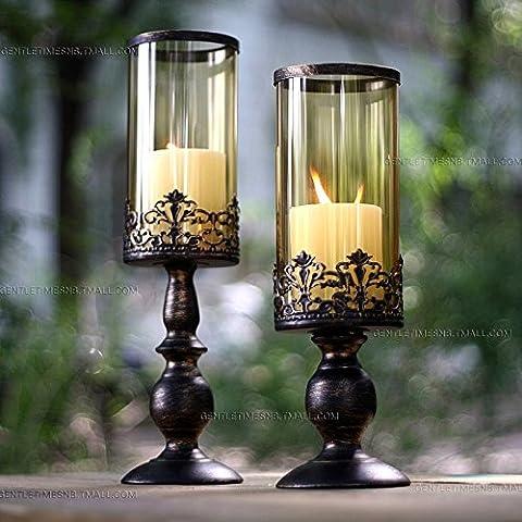 Portacandele,in stile europeo classico candela ferro ornamenti di nozze nozze di Natale le forniture a (Ferro Gestire Spazzola)