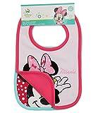 Disney Minnie Babies 2 pack bib 2016 Collection - fuchsia
