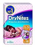DryNites - Braguitas absorbentes para niñas de 3 - 5 años, 2 packs x 16 braguitas