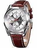 KS Navigator series Herren Armbanduhr Automatik Mechanisch Braune Armband aus