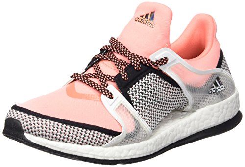 Adidas Pure Boost Clima Shoes Coral/Navy/Linen Men's Running