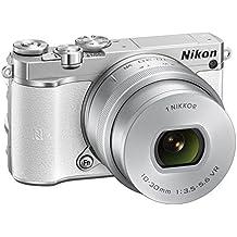 "Nikon 1 J5 - Cámara EVIL de 20.8 MP (pantalla TFT LCD inclinable 3"", sensor CMOS BSI, vídeo Full HD, WiFi y NFC, flash incorporado), blanco - kit con objetivo 1 Nikkor VR 10-30 mm"