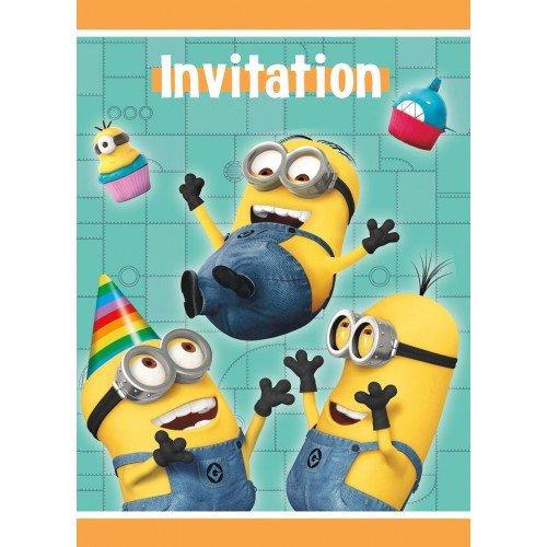 Despicable Me Party Invitations pkt 8