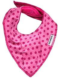 MAXOMORRA Baby Mädchen Halstuch Pink Punkte Dots BioBaumwolle Gots