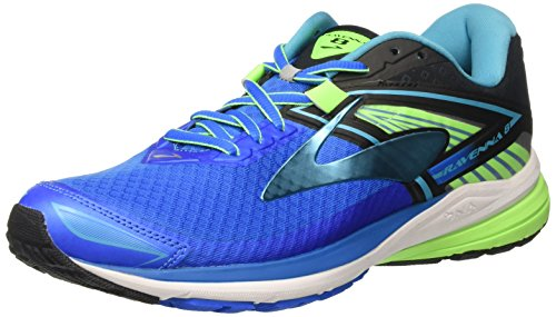 Brooks Men's Ravenna 8 Running Shoes, Blue (Electric Blue Lemonade/black/green Gecko), 9.5...