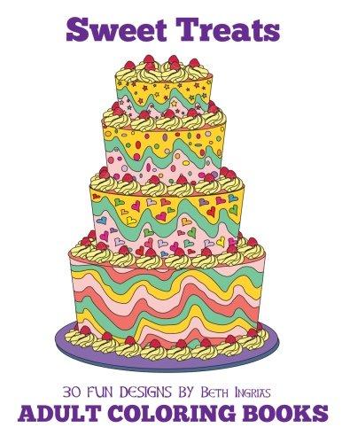 Adult Coloring Books Sweet Treats Volume 20