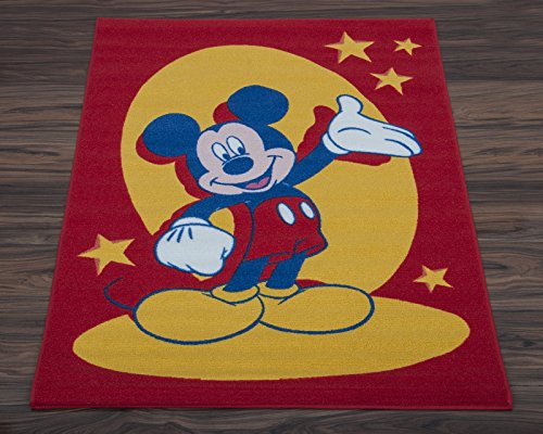 Beddingdirect Disney Kinder Teppich, Mickey Mouse Design