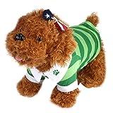 Ouneed® Hundbekleidung , Heiße nette Hunde T-Shirt Kleidung Revers Streifen Baumwollwelpen Haustier Hunde Bekleidung (XS)