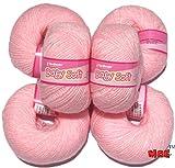 #5: Vardhman Acrylic Knitting Wool, Pack of 6 (Baby Pink)