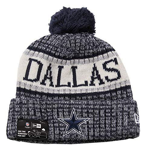 New Era ONF18 Sport Knit Bommelmütze Dallas Cowboys Blau, Size:ONE Size