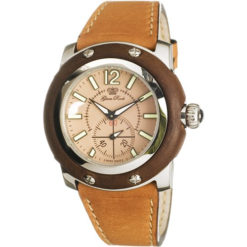 Glam Rock GR10009 - Reloj analógico de Cuarzo para Mujer con Correa de Piel, Color marrón