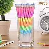 Ohwens 20pcs multi couleur arc-en-couleur recharge fournitures scolaires durables pour les étudiants surligneur stylo gel