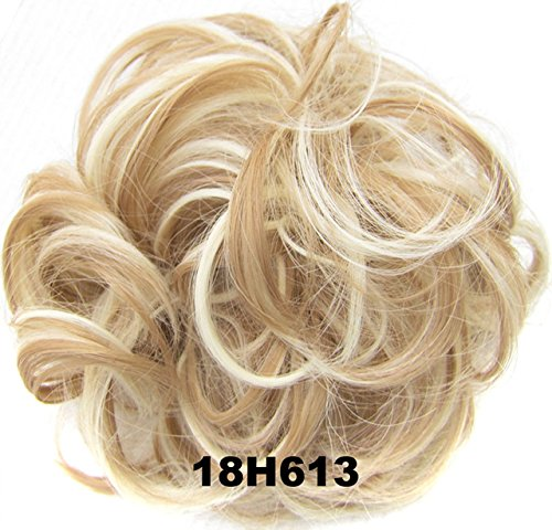 Chignons elastico dei capelli ricci scrunchie hair extensions hair ribbon ponytail hair bundles updo capelli sintetici capelli per donne bellezza wedding