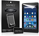 """MOFRED® New Amazon Fire 7"""" / Fire 7"""" Kids Edition (5th Generation 2015 Release) Screen Protectors with Cleaning Cloth And Application Card (3 in Pack)"""
