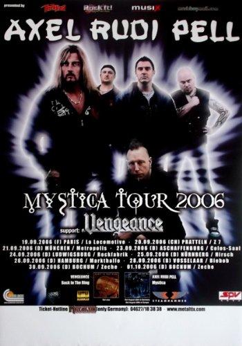 AXEL RUDI PELL - 2006 - Tourplakat - Mystica - Tourposter - Concert