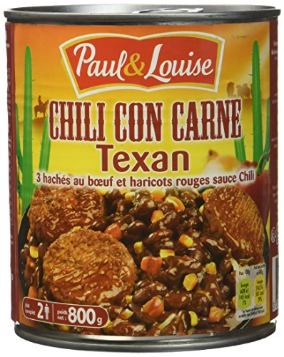 Paul & Louise Chili Cône Carne Texan 800 g - Lot de 2