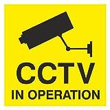 Security Camera Warning Sticker