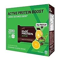 RiteBite Max Protein Active Green Tea Orange Bars 420g Pack of 6 (70g x 6)