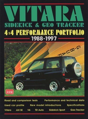 Suzuki Vitara, Sidekick and Geo Tracker 4 X 4 Performance Portfolio 1988-1997 (Brooklands Books Road Test Series): 4 X 4 Performance Portfolio, 1971-97 (Performance portfolio series) by R.M. Clarke (1998-09-14) (1992 Geo Tracker)