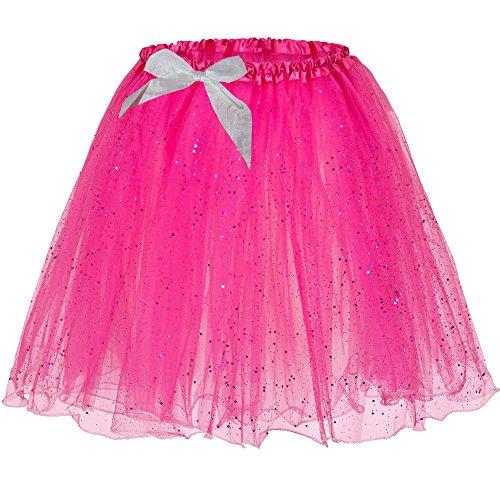 Glitter-Tütü in Pink - Fun-Tutu - Größe (Erwachsene Kostüme Rosa Tutu)