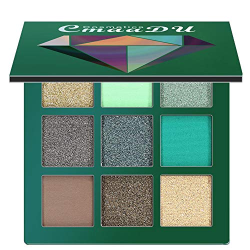 Cenlang Best Pro Eyeshadow Palette Makeup - Matte + Shimmer 9 Colors - Highly Pigmented - Professional Nudes Natural Cosmetic Eye Shadows,Eyeshadow Palette Makeup Kit Set Make Up Professional Box -