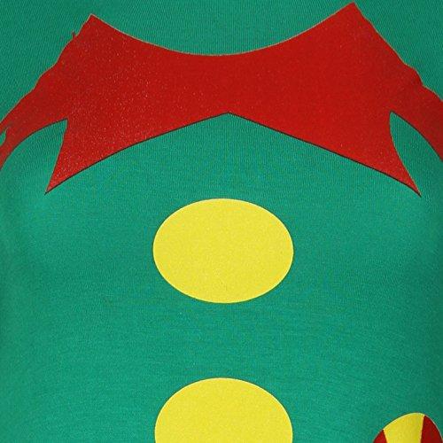 Femmes Elf Body Swing Swing Dress EUR Taille 36-42 Vert