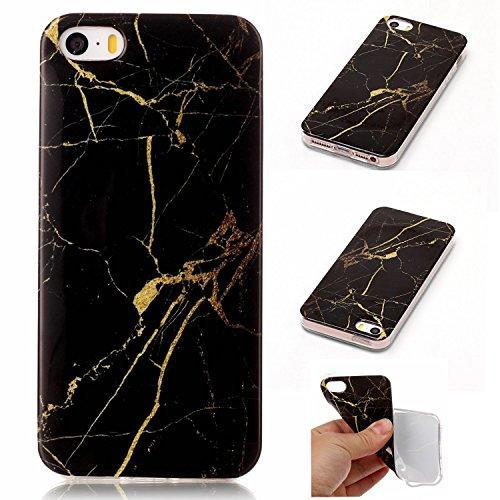 Für Apple IPhone 5 5s SE Fall Marbling Textur Soft TPU Abdeckung Slim Ultra Thin Anti-Kratzer Schock Absorption Schutzmaßnahmen zurück Deckung Shell ( Color : J ) D