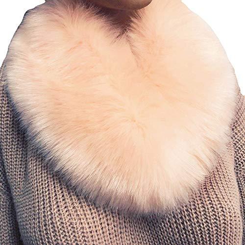 Billig Kostüm Hinata - Fenverk Frau Schal Mode Kunstpelz Nachahmung Gras Schals Leopard Drucken Zum Damen TüCher Wraps Im Geschenke Ihr Mama Warm(Rosa)