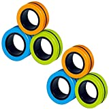 6 STKS Stress Relief Magnetische Ringen - EDC Fidgeting Game voor Autisme ADHD Angst Relief Focus Decompressie - Vinger Fidget Toys