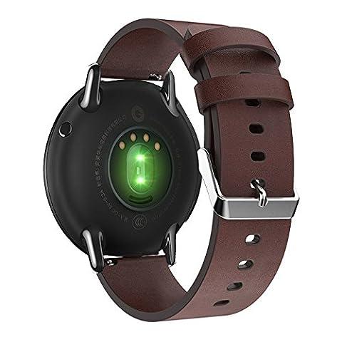 Pinhen Bracelet de Gear S3 Watch en Premium Cuir Véritable