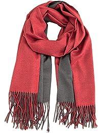 1713f21440f329 Caripe Winterschal Damen XXL Viskose Wolle warm groß Winter Schal Stola  zweifarbig- S8769