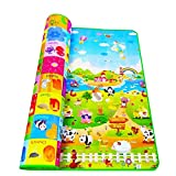 Kitchen Point Playmat Waterproof, Anti Skid Double Sided Baby Crawling Mat for Kids